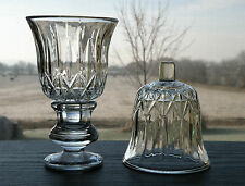 Set of 2 Homco Valencia Faceted Clear Glass Votive Cup Candle Holders