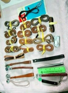 lot of old Leather Camera straps and Grips