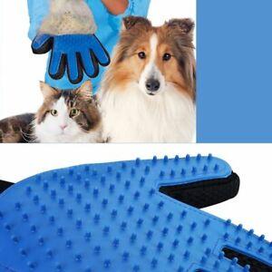 Deshedding Pet Grooming Glove Brush Fur Remover Mitt Dog Cat Rabbit Left Right