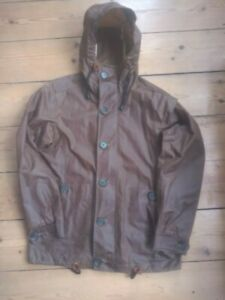 """Heritage Research Waxed Longline British Millerain Parka Jacket - Small-Med/38"""""""