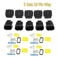 5x 10 Pin Way Car Waterproof Electrical Connector Plug Wire Terminal Sockets 20A