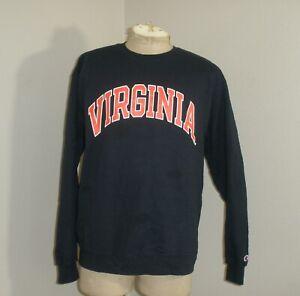 Champion Eco Virginia Tech College Crewneck Sweatshirt Navy Blue Large Mens