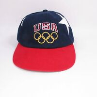 Vintage USA Olympic Rings Snapback Hat - Olympic Team Collection by Champion