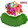 60 Table Decorations Supplies Moana Themed Party Tropical Luau Hawaiian Leaves