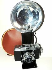 Vintage Agfa Solinette II Folding 35mm Film Camera w/ Agfa Apotar 3.5 f=50mm
