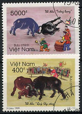 Vietnam 1999 SG#2282-3 Buffalo Festival Cto Used Set #D9746