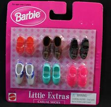 BARBIE - LITTLE EXTRAS - Casual shoes - 6 pr. #67036-86- NEW - NRFB