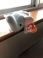 RARE beany baby 1995 Peanut The elephant