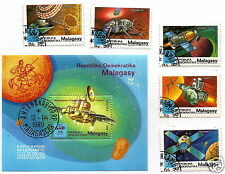 MADAGASCAR MALAGASY 1989  Phobos Space Weltraum Mars Expl set + S/S USED