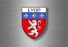 Sticker decal souvenir car coat of arms shield crest city france flag lyon