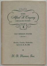 Old German States, the Alfred H Caspary collection, 1956 auction catalogue