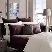 Kenneth Cole Landscape QUEEN COVERLET ~ Velvet Mink Red Wine Burgundy