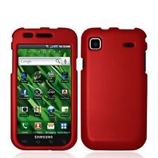 Hard Rubberized Case for Samsung Galaxy S Vibrant T959 - Red