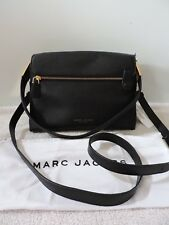 NWT $450 MARC JACOBS THE ESSENTIAL SHOULDER BAG BLACK CROSSBODY PEBBLED LEATHER