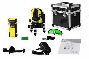 Firecore Professional Linien Laser Wasserwaage FIR411G mit Empfänger | Koffer