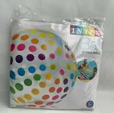 """Intex Jumbo Ball Inflatable 42"""" Beach Pool Multi Color Dots Ages 3+ NEW"""