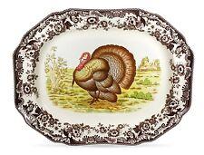 "Spode Woodland Turkey 19"" Octagonal Turkey Platter  ~~ FREE SHIPPING ~ NEW"