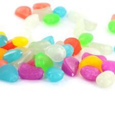 20  Glow in the Dark Pebbles Stones Aquarium Fish Tank uk stock fast post new !!