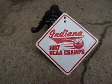 "VINTAGE NOS ""INDIANA 1987 NCAA NATIONAL CHAMPS"" BICYCLE MUD FLAP DIRTY/GOOD"