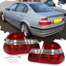 COPPIA FANALI LUCI POSTERIORI ROSSO-CLEAR PER BMW E46 98-01 SERIE 3 BERLINA FARI