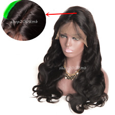 "Women Glueless Lace Front Human Hair Wigs Wave Wig Brazilian 360g 24"" Baby Hair"