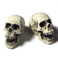 2 Screemin Skulls Skeleton head Goth Punk Human Harley Motorcycle Made in USA 34