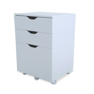 Desk Drawer - White, with Wheels for Easy Mobility, To keep things Organised.