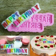 "Aus Seller...."" Happy Birthday "" Fondant Silicone Mould...10 x 4.2 x .5cm...new"