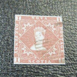 nystamps Canada Nova Scotia Stamp # 1 Used $655   J8x2412