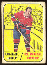 1967 68 TOPPS HOCKEY #73 J.C. TREMBLAY VG MONTREAL CANADIENS CARD