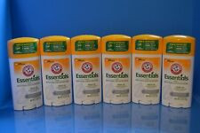 Lot Of 6 Arm & Hammer Essentials Unscented Natural Deodorant 2.5 oz Each