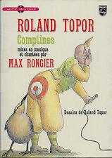 RARE EO 1978 LIVRE-DISQUE ILLUSTRÉ + ROLAND TOPOR + MAX RONGIER : COMPTINES