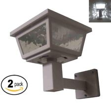 White Color Solar Light Post Cap Dual SMD Wall Mount or Post (2 Pack) PL254W