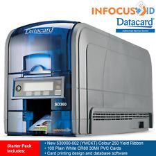 Datacard SD360 Plastic ID Card/Badge Printer With Starter Pack, Support & VAT