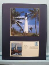Cape Florida Lighthouse  & First Day Cover of the stamp issued for lighthouses
