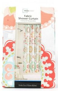 Mainstays 70 In X 72 In Groovy Medallion Fabric Shower Curtain 100% Polyester