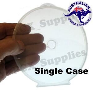 Super Clear Plastic DVD/CD clam shell covers Poly Cases Free Post