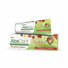 Aloe Dent Natural Children's Aloe Toothpaste Strawberry Fluoride Free  50ml