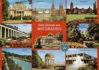 Wiesbaden  -  Staatstheater - Marktkirche - Hauptbahnhof - Opel-Bad  -  1980