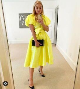 Christopher John Rogers x Target Puff Sleeve Tie Waist Volume Dress Yellow XS M