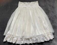 LapisGirl Sz 10/12 Cream Laced Sleeveless Tube Dress- Can Convert To Skirt Lined