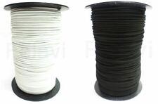 Gummiseil 1 bis 3,5 mm schwarz oder weiß Expanderseil Elastisch Mundschutz Seil