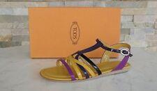 Tods Morte´s Gr 36,5 sandali Lacca scarpe Sandali Scarpe multicolore nuovo