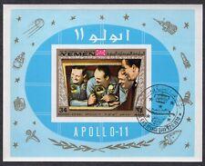 Yemen 1970 - Space - Apollo 11 Astronauts - Used Souvenir Sheet