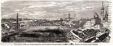 13/6/1859: i Francesi passano l'Adda a CASSANO D'ADDA.Risorgimento.Stampa Antica