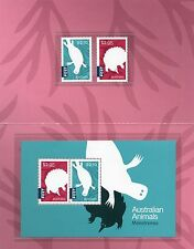 Australian Animals Monotremes 2016 - 4 mint stamps in folder