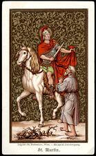 antico santino cromo-holy card S.MARTINO DI TOURS