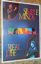 SIMPLE MINDS  / Original UK Vintage Poster / 61 x 86 / Rare!