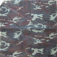 Green camo army style print Bandanna neck head scarf biker rocker militaria goth