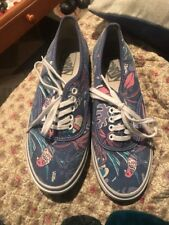 Vans Doren Blue Tropical Birds Parrots M6/W7.5
